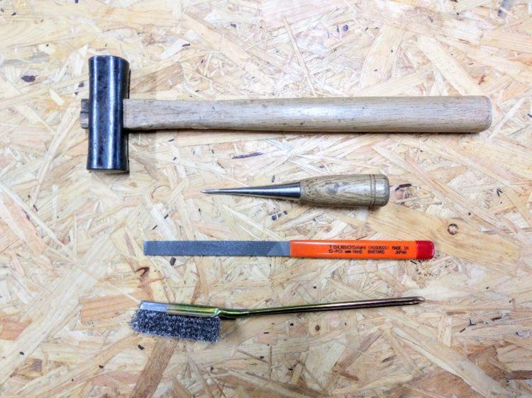 エイジング加工で使用する道具