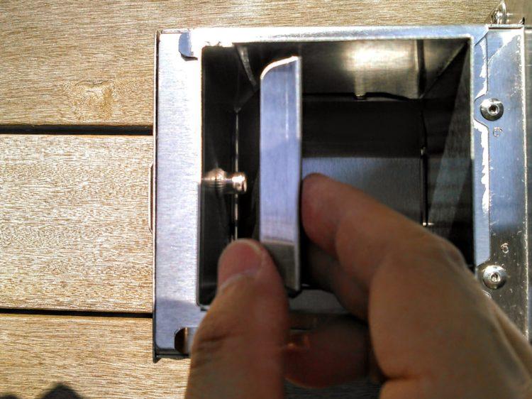 調整弁をホッパーの内側へ