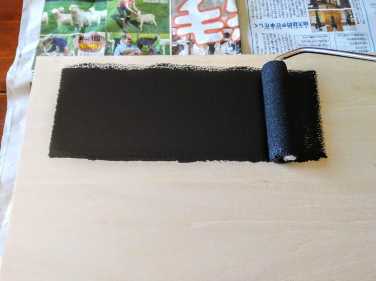 マグネット塗料を塗布