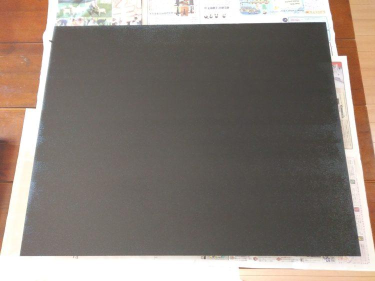 黒板塗料塗り終わり