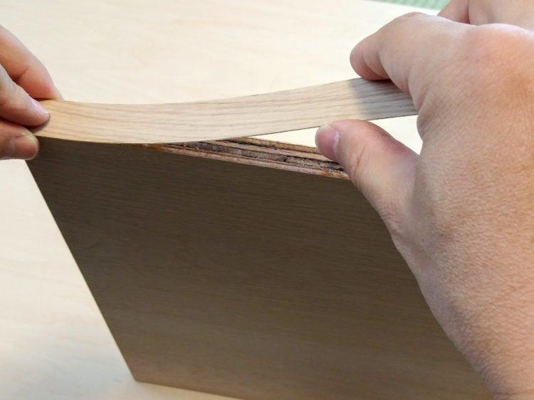 木口テープ張り合わせます。