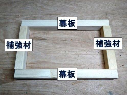 前後幕板と補強材の接合