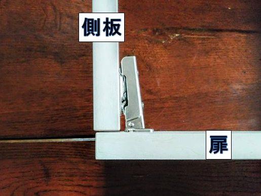 側板に扉を取り付ける場合に使用