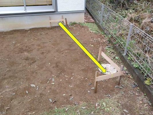 ウッドデッキの長さを測る