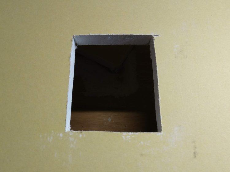 石膏ボードの窓抜き