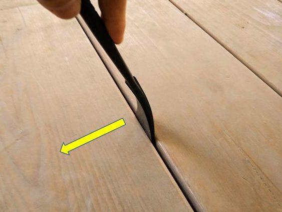 床板の反りを矯正