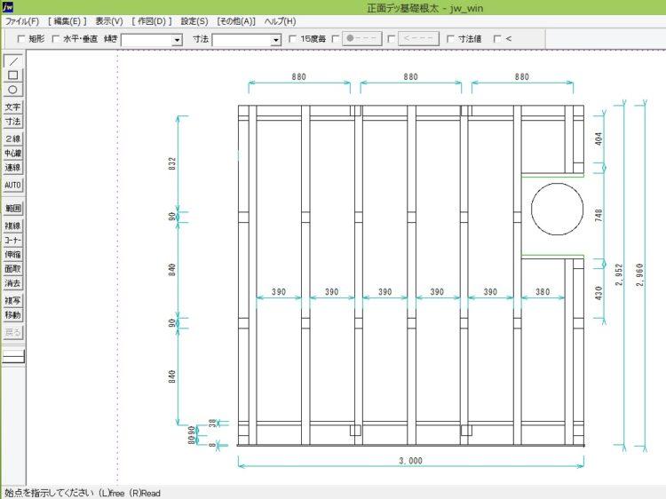 JW-CADの画面
