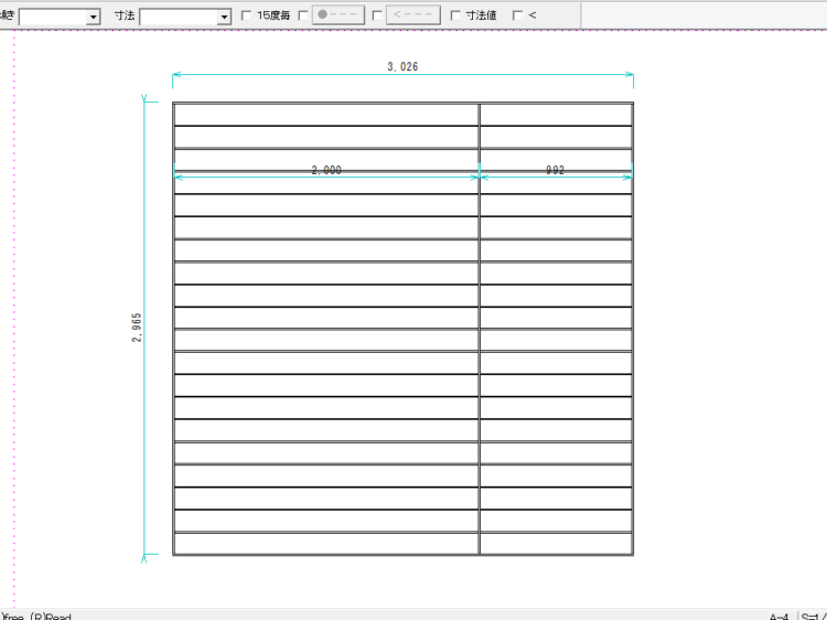 CADによる床面の図面