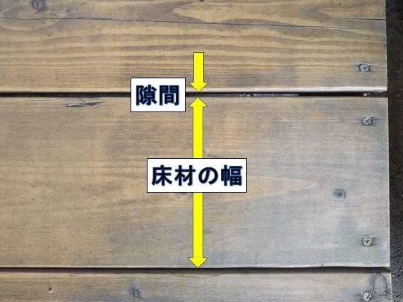 床板を張る間隔
