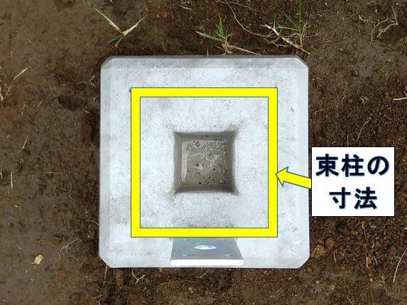 束石上端の寸法