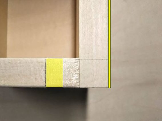 ガイド面(側板)と欠き取り箇所