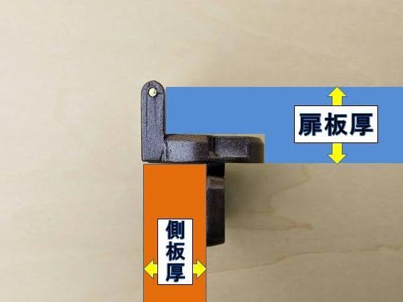 扉板厚と側板厚