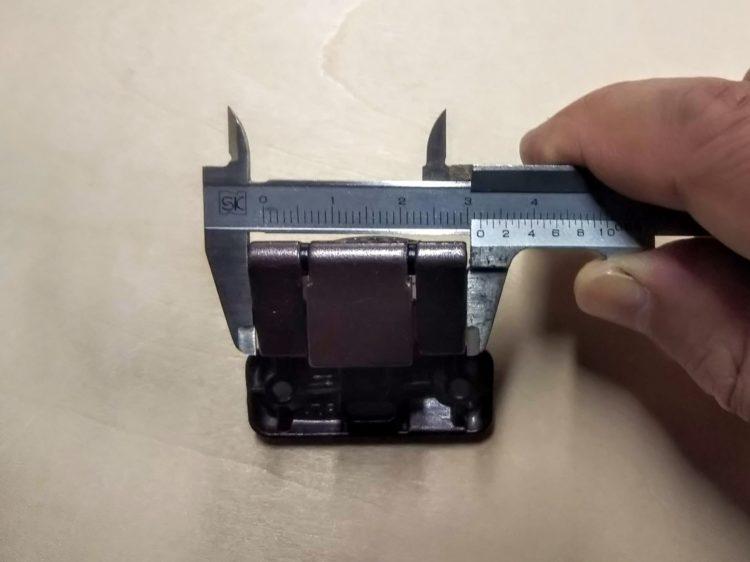 回転軸部分の幅を計測
