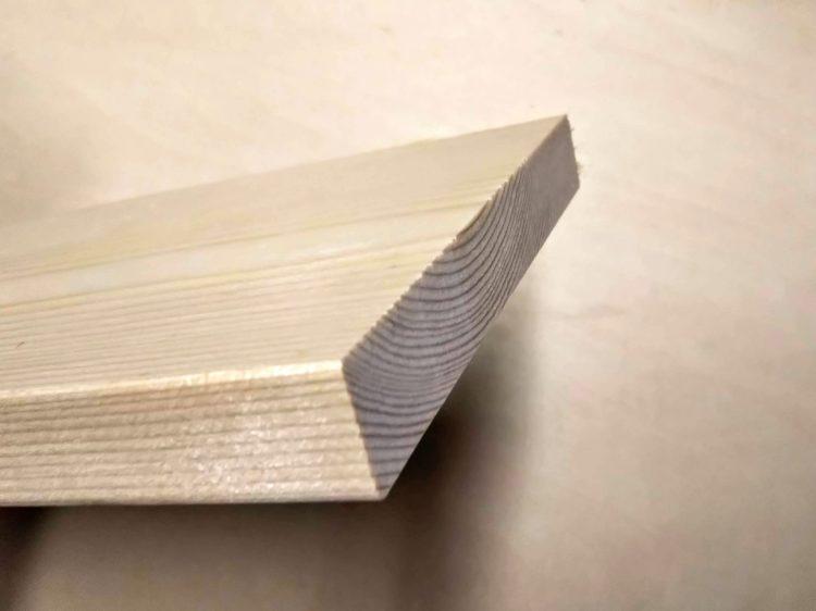 木材仕上げカット用ブレード使用の切断面