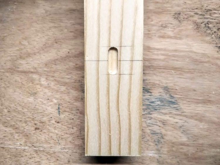 一回目の長穴切削