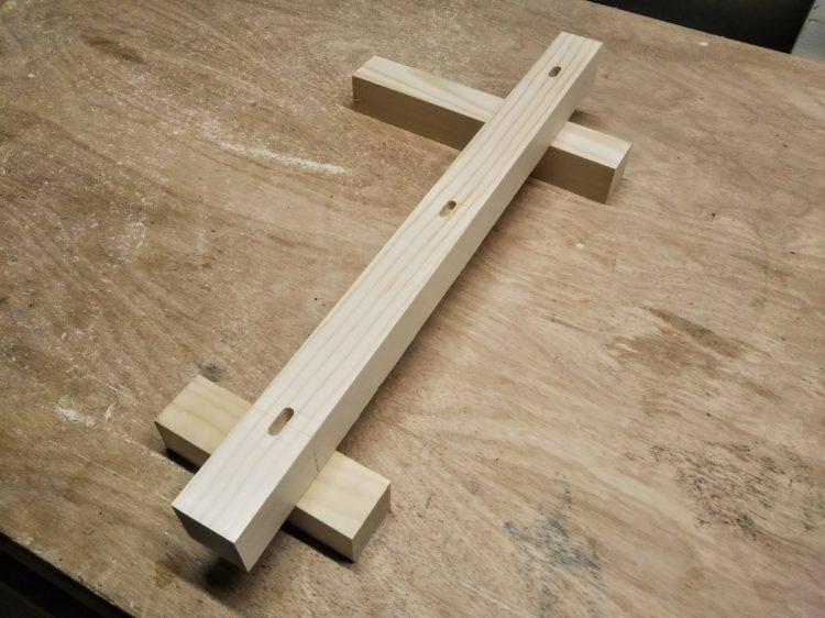 軸径+α(5mm)の長穴加工完成