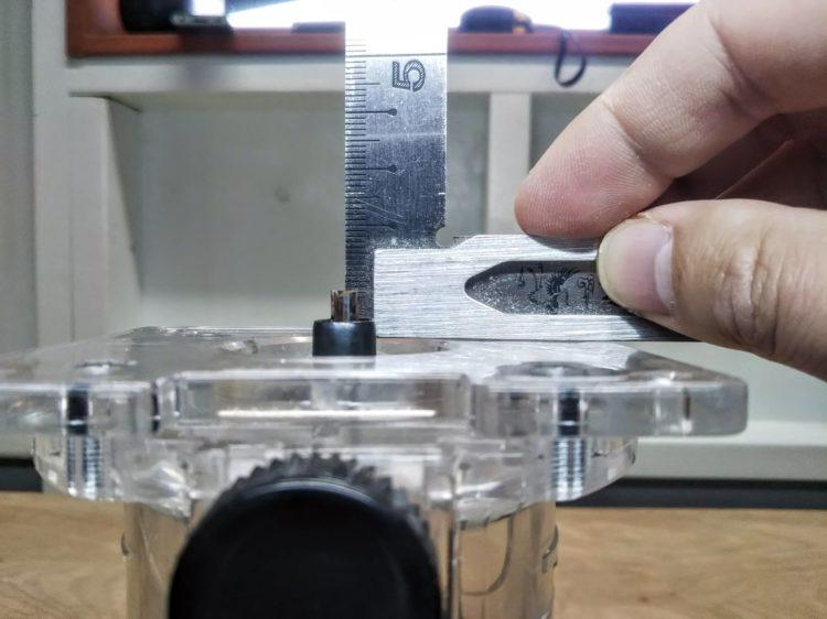 ビットの出寸法を8.5mmに設定