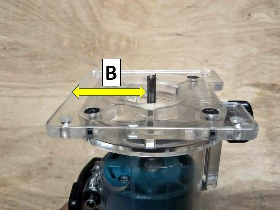 ベース端部とビット側面の幅