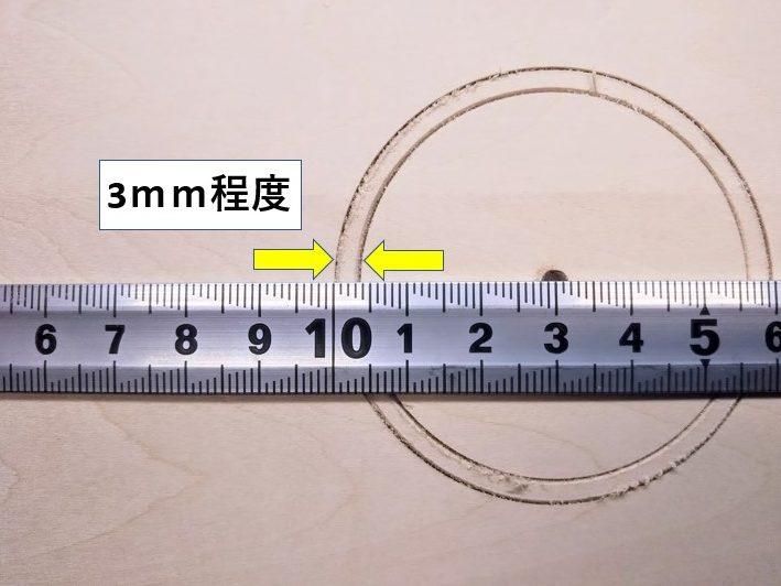 外刃と内刃の溝間隔