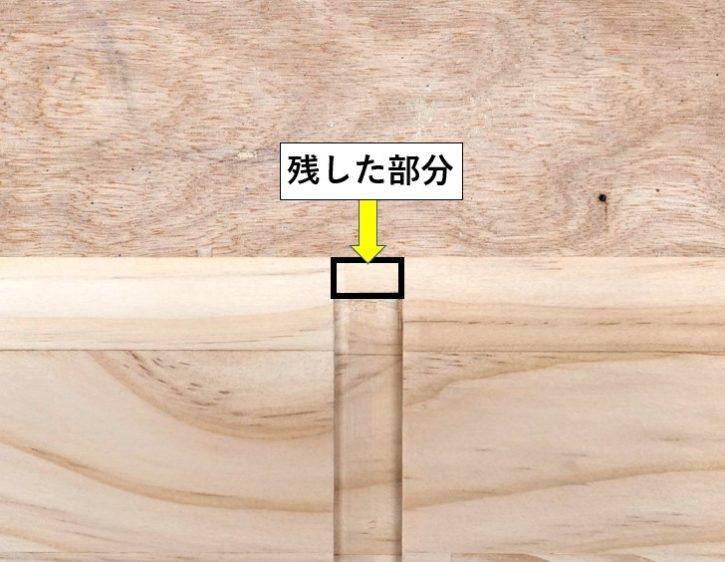 ①材溝の残した部分