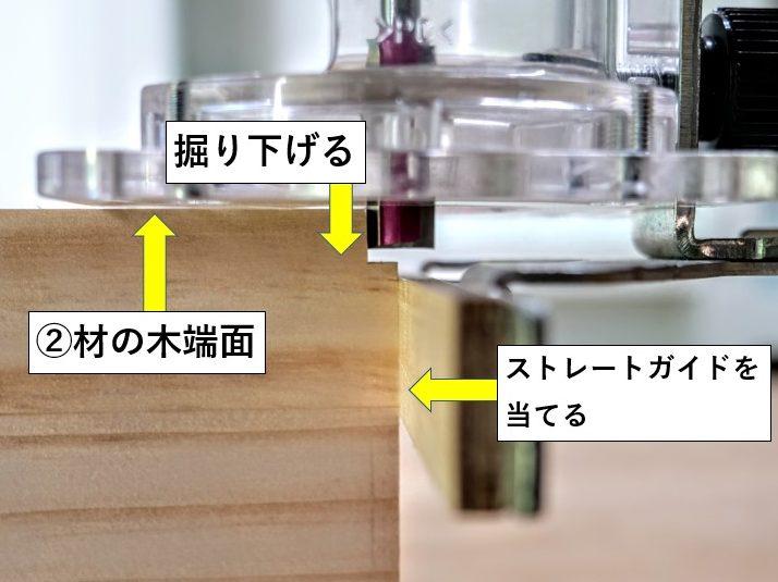 トリマーによる欠き取りの加工方法