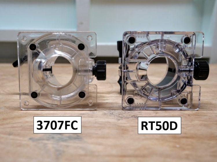 RT50Dと3707FCのベースプロテクタ比較