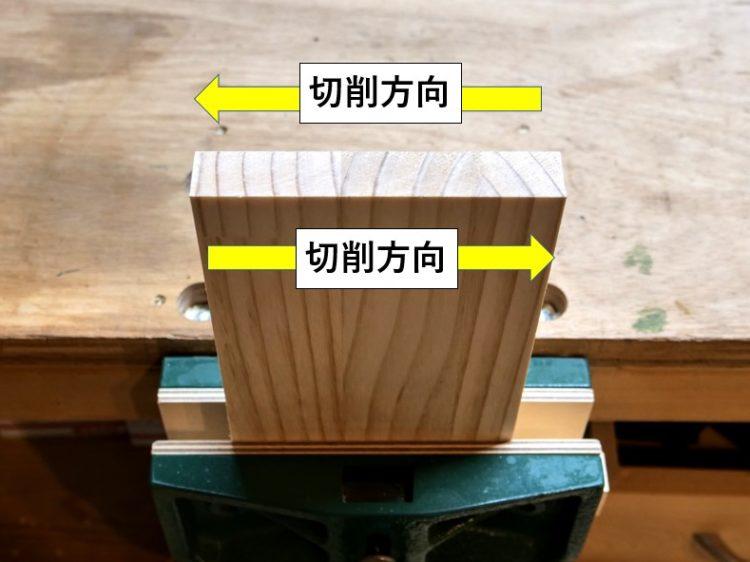 アリ溝ビットの切削方向