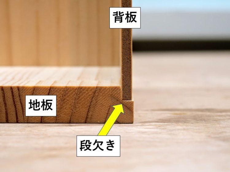 背板断面図(段欠き)