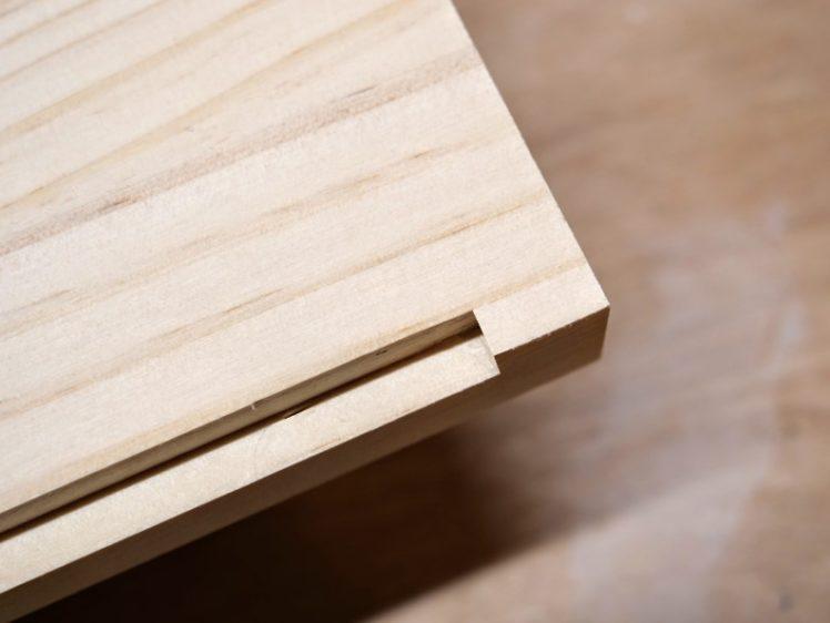 天板・地板の段欠き端部を整える