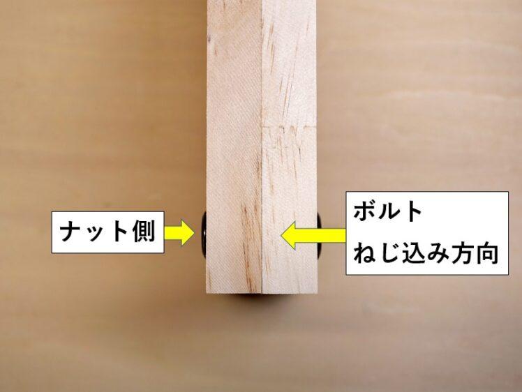 板材同士を平行に接合する場合
