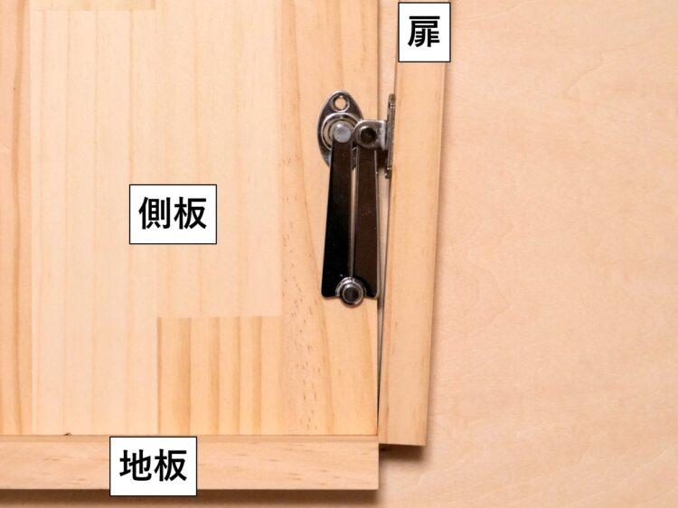 取付ベース同士が干渉して扉が閉まりきらない