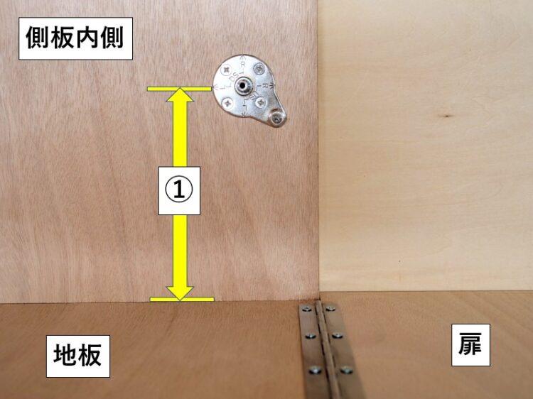 マウンティングプレートを側板内側に取付
