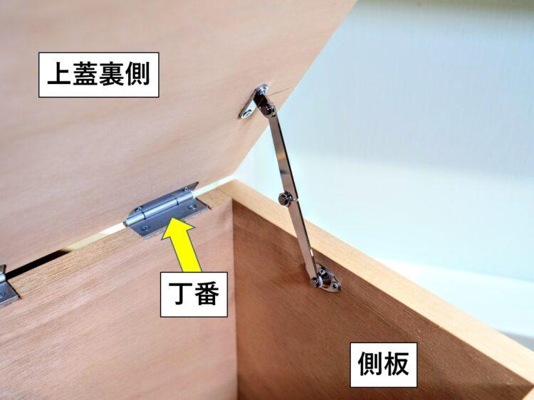 天蓋用ステー(折り畳みタイプ・右用)使用例