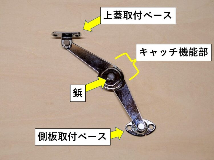 ワンタッチステー(キャッチ機能付き・右用)